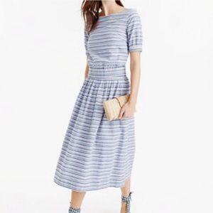Jcrew crop top and skirt set